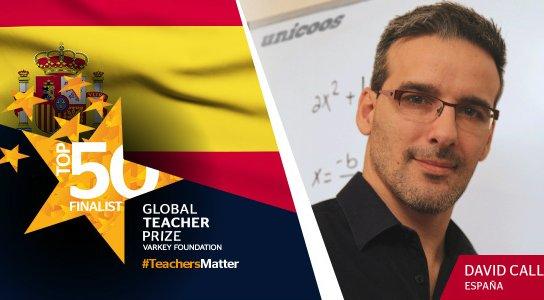 David Calle (Unicoos), nominado a los Global Teacher Prize 2017