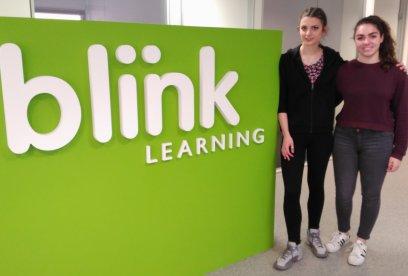 4ºESO+Empresa: Esther y Carla, alumnas del IES Santamarca de Madrid, visitan BlinkLearning