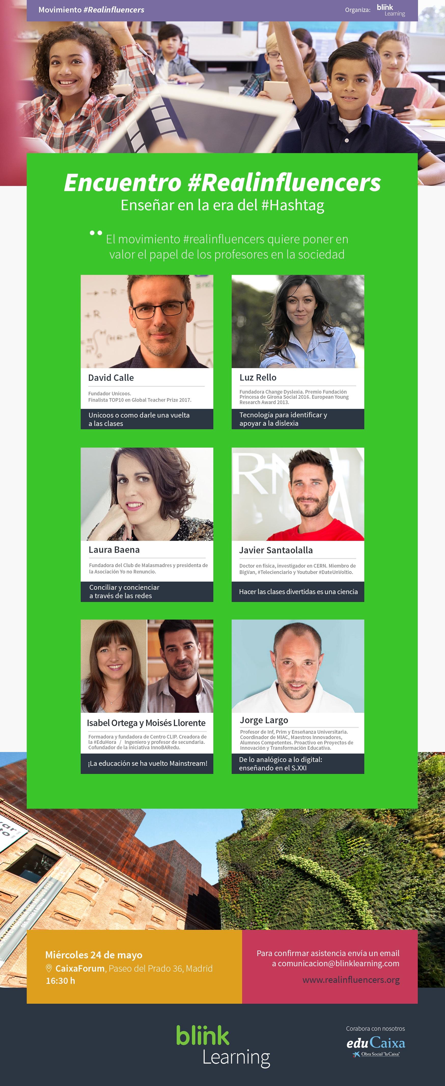 Cartel encuentro #realinfluencers