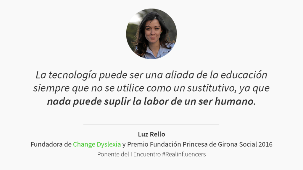 Ponencia de Luz Rello en #Realinfluencers