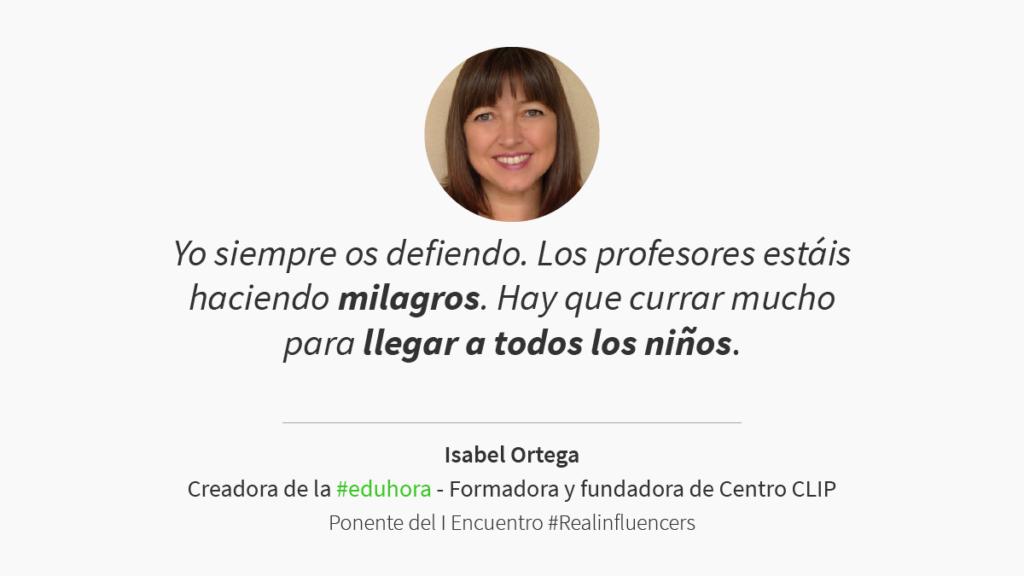 Ponencia de Isabel Ortega en Realinfluencers