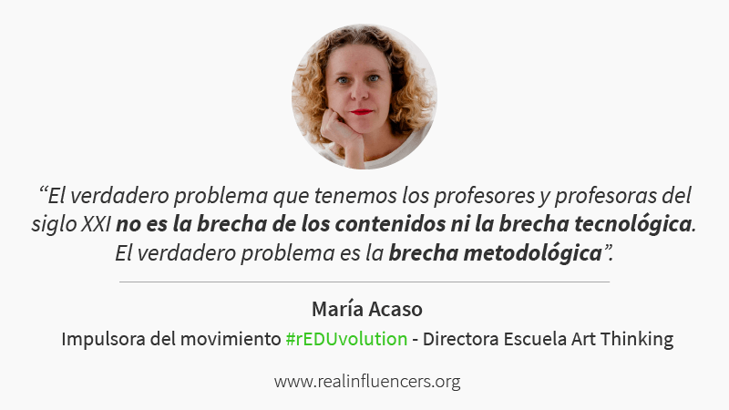 María Acaso es directora de la Escuela Art Thinking